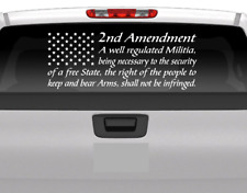 American flag 2Nd Amendment Vinyl Usa Decal Sticker Car Truck Window Patriotic
