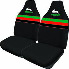 NRL Front Car Seat Covers - South Sydney Rabbitohs - Set Of 2 One Size Fits All