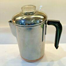 Vtg REVERE WARE Coffee Pot Maker 8 Cup Percolator Stove Top Copper Clad Pre 68