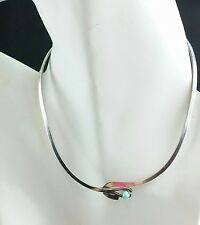Vintage & Antique Jewelry Mid-cemtury Mcm 925 Sterling Silver-hand Hammered Choker-collar Necklace Terrific Value