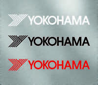 "Yokohama tires decal sticker large small Vinyl JDM racing Honda Toyota size 8"""