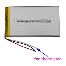 3.7V 5000mAh 3 wires Polymer Li Battery 5565113 for thermistor For PSP Tablet PC