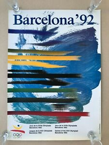 1992 Summer Olympics Olympic Games Barcelona Official ORIGINAL POSTER 70x50 №4