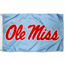 Ole Miss Powder Blue Flag Large 3x5
