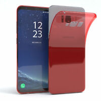 Ultra Slim Cover für Galaxy S8 Plus Case Silikon Hülle Transparent Rot