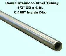 Round Tubing 304 Stainless Steel 12 Od X 6 Ft Welded 0460 Inside Dia