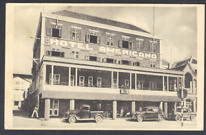 Willemstad, Curacao, Hotel Americano, Vintage Autos, Posted Jan 17, 1940