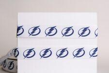 "Tampa Bay Lightning Hockey 7/8"" Grosgrain Ribbon 1,3,5,10 yards ship from Usa"