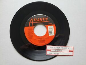 """Lou Gramm - Just Between You And Me / Tin Soldier 1989 Foreigner 7 """" (Ex)"""