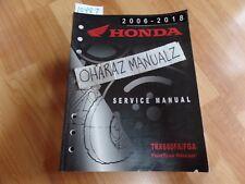 2006 2007 2008 2009-2017 HONDA TRX680FA/FGA Fourtrax Rincon Service Manual OEM
