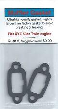 XYZ 53cc Twin Exhaust/Muffler Gasket 2 Pack NIP