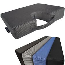 Medipaq Memory Foam Wedge Cushion With Coccyx Cut-out for Back Support and Hei