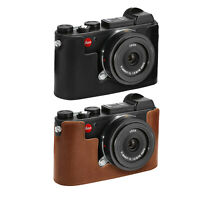 MegaGear Leica CL Ever Ready Genuine Leather Camera Half Case and Strap