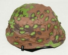 WWII GERMAN MILITARY OAK CAMO M35 REVERSIBLE CAMOUFLAGE HELMET COVER