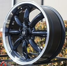 Gloss Black 17x7.5 +45 ROTA RB 4X100 Wheels FIT MINI COOPER S Jcw John Work Rims
