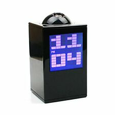 Black Digital Projector LED Alarm Clock Time Calendar Temperature Combo All in 1