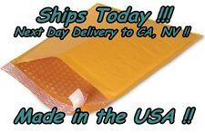 100 7x12 Size #1 Kraft Bubble Mailer Padded Envelope DVD