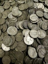 1942-1945 PDS Jefferson War Nickel Roll 35% Silver 40 Coins Circulated FREE SHIP