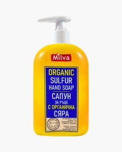 Milva ORGANIC SULPHUR MSM Liquid Soap Anti-Bacterial Regenerating Healing Sens