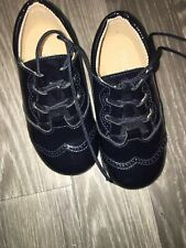 Panyno Baby Boys Black Patent Leather Boots Eu 24 Uk Size 8