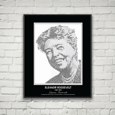 Eleanor Roosevelt Poster - In her own words. Image made of Eleanor's quotes!