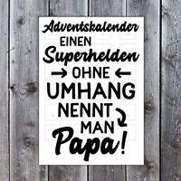 Lieblingsmensch Adventskalender - Superhelden ohne Umhang nennt mann Papa