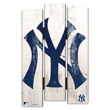 "New York Yankees Wood Fence Sign 11""x17"" [NEW] MLB Wall Man Cave Fan Wall"