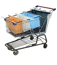 Reusable Shopping Cart Bags and Grocery Organizer Designed for Trolley Carts by