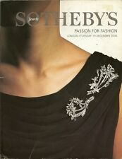 SOTHEBY'S PASSION FOR FASHION COUTURE JEWELS Hermes Auction Catalog 2000