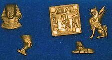 Dollhouse Royal Egyptian Golden Tut Head Nefertiti Sphynx Hieroglyphic Miniature