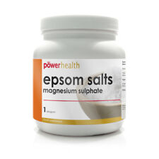Power Health Epsom Salts Magnesium Sulphate (1kg) Suitable as a Food Supplement