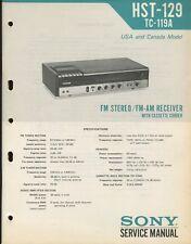 Sony HST-129 Original FM/AM Stereo Receiver Service Manual