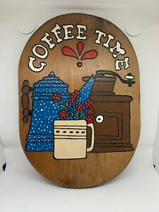 Vintage Wood Sign Coffee Country Decor Kitchen Unique Patriotic Handmade