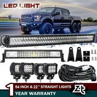 480W 50inch Led Light Bar Curved Combo for Pickup Trucks Off Road ATV SUV ATV 52