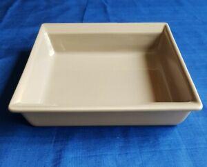 Grand plat à four, plat à gratin, céramique, Émile Henry, rectangulaire, gris