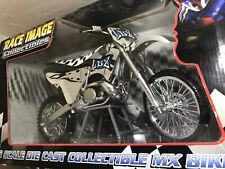 NIB- ORIGINAL MX BIKES (TOY ZONE) LBZ RACE IMAGE COLLECTABLES 1:6 SCALE DIE CAST
