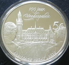 Nederland - 5 Euromunt 2013 Vredespaleis proof in capsule