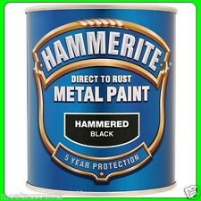 Hammerite Metal Paint, Hammered Black Finish [5092955] 750 ml