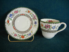 Copeland Spode Late Mark Chinese Rose Demitasse Cup and Saucer Set