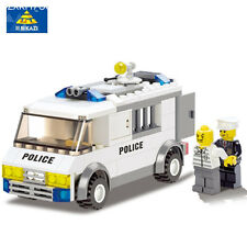 Police Series Blocks Police Custody Van Enlighted Building Blocks Sets playmobil