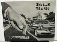 1959 Plymouth Dealer Sales Brochure Forward Look Models Test Drive