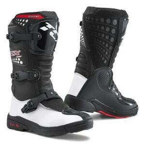 TCX Comp Youth Kids Motocross Boots UK 12 Black/White New On Sale