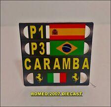 1:18 Pitboard F1 Formula 1 Fernando Alonso Ferrari Barcelona 2013 to minichamps