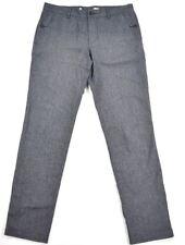 Lacoste Womens Dark Navy Blue Mid Weight Straight Leg Dress Pants SZ US 32