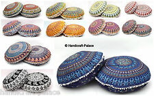 10 Pc Indian Mandala Floor Pillow Wholesale Lot Round Tapestry Cushion Cover 32""