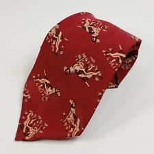 "1940s Wool Necktie with Pointing Bird Dog 46"" Long"