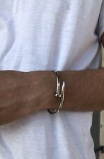 Bracelet jonc argent 925   Homme  22 Cm Livraison Offerte