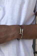 Bracelet jonc argent 925   Homme Femme