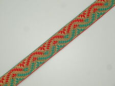 "BY  YARD 1.40"" (3.55 CM) wide Jacquard Trim Woven Border Sew  Ribbon Lace T609"