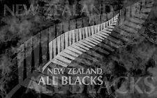 Enmarcado impresión-Nueva Zelanda All Blacks Rugby (Imagen Cartel 6 Naciones Inglaterra)